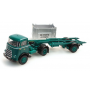 "1959 DAF Self-Loading Tractor with open Container ""NMBS,"" Ready-Made (HO) Artitec 487.011.01"