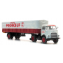 """1959 DAF Tractor with 1 Axle Trailer """"Piedboeuf ,"""" Ready-Made (HO) Artitec 487.021.03"""
