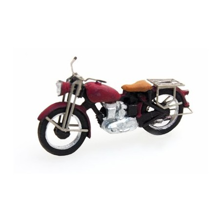 Artitec 387.05-RD (HO) Triumph Civilian Motorcycle Red, Ready-Made