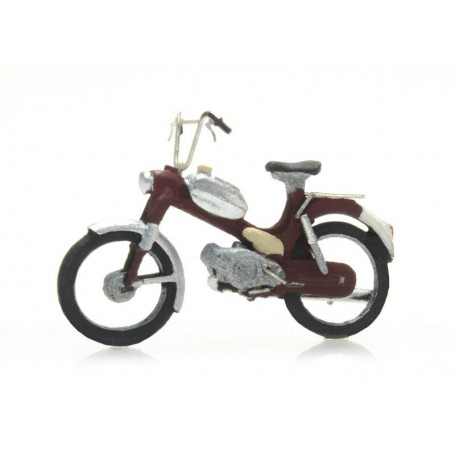 """Artitec 387.266 (HO) Moped """"Puch"""" Red, Ready-Made"""