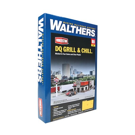 Walthers Cornerstone N Scale Building//Structure Kit DQ Grill /& Chill Restaurant