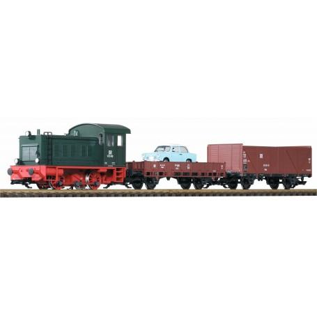 Piko 38121 (G) DR V20 Freight Starter Set w/ Analog Sound