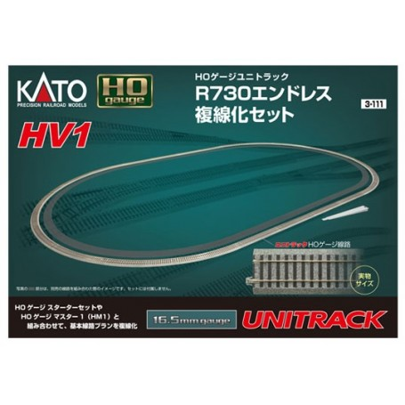 KATO 3-111 (HO) Unitrack - HV1 R730mm Outer Track Oval