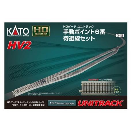 KATO 3-112 (HO) Unitrack - HV2 Passing siding track set