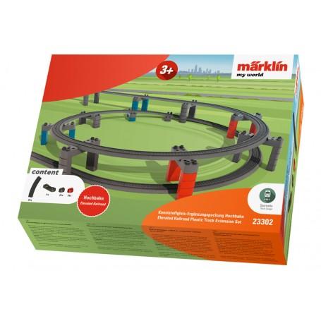 Märklin My World 23302 (HO) Elevated Railroad Plastic Track Extension Set
