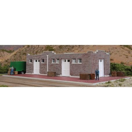 Walthers Cornerstone 4056 (HO) Brick Mission-Style Santa Fe Freight House -- Kit