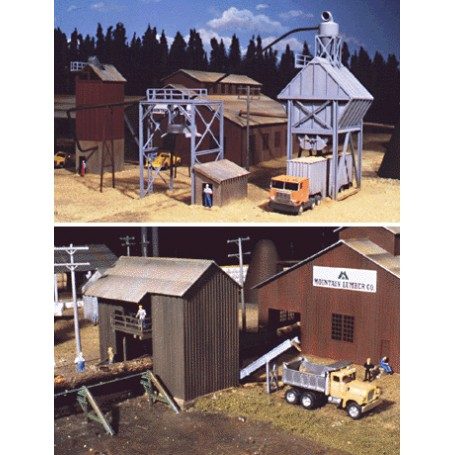 Walthers Cornerstone 3144 (HO) Sawmill Outbuildings -- Kit