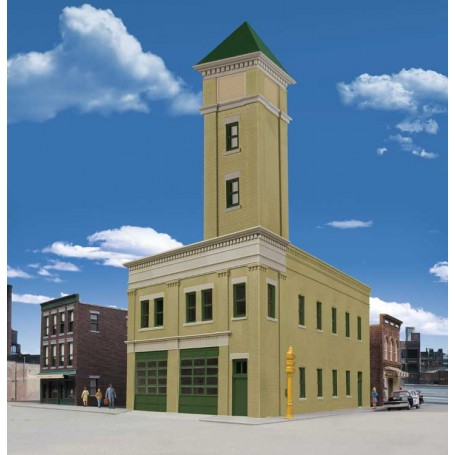 Walthers Cornerstone 4022 (HO) Two-Bay Fire Station -- Kit