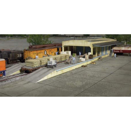 Walthers Cornerstone 2918 (HO) Open Air Transload Building -- Kit