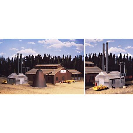 Walthers Cornerstone 3058 (HO) Mountain Lumber Company Sawmill -- Kit
