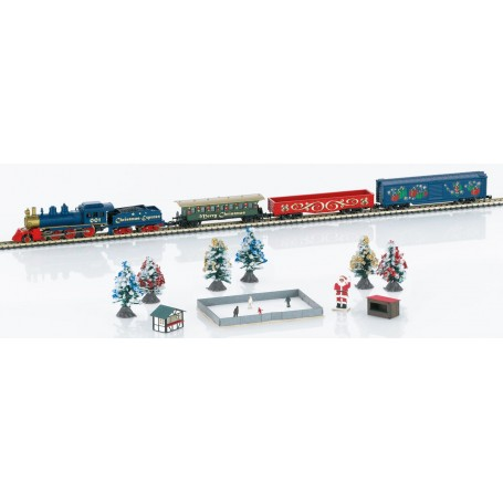 Märklin 81846 (Z) American Christmas Starter Set - Standard DC -- Christmas Express 4-6-0 (120 Volts)