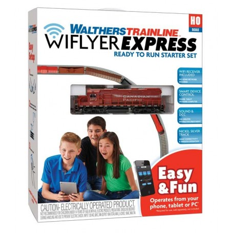 Walthers Trainline 1251 (HO) WiFlyer Express Train Set with Sound and DCC - Canadian Pacific