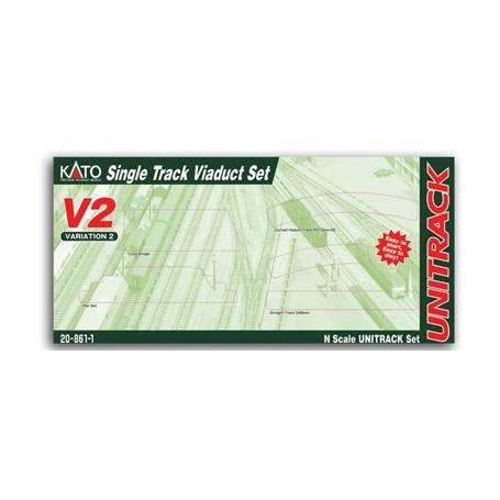 KATO Unitrack 20-861-1 (N) V2 Single-Track Viaduct Track Set