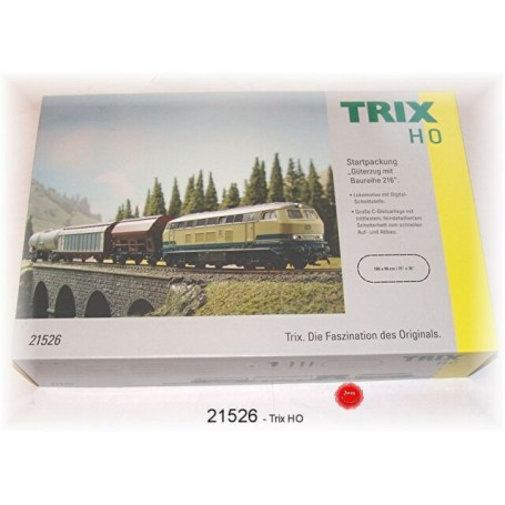 "Trix 21526 (HO) ""Freight Train with a Class 216"" Starter Set"