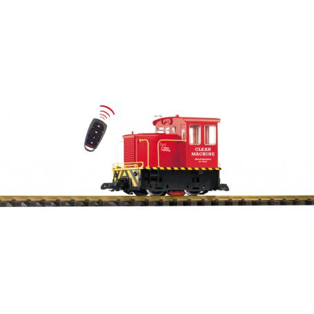 PIKO 38506 (G) Clean Machine R/C GE 25-Ton Track Cleaning Locomotive